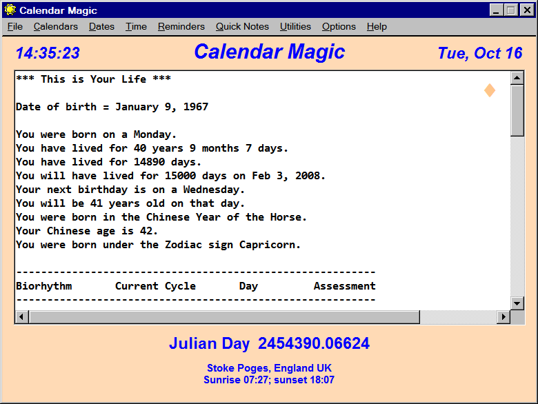 Calendar Magic 