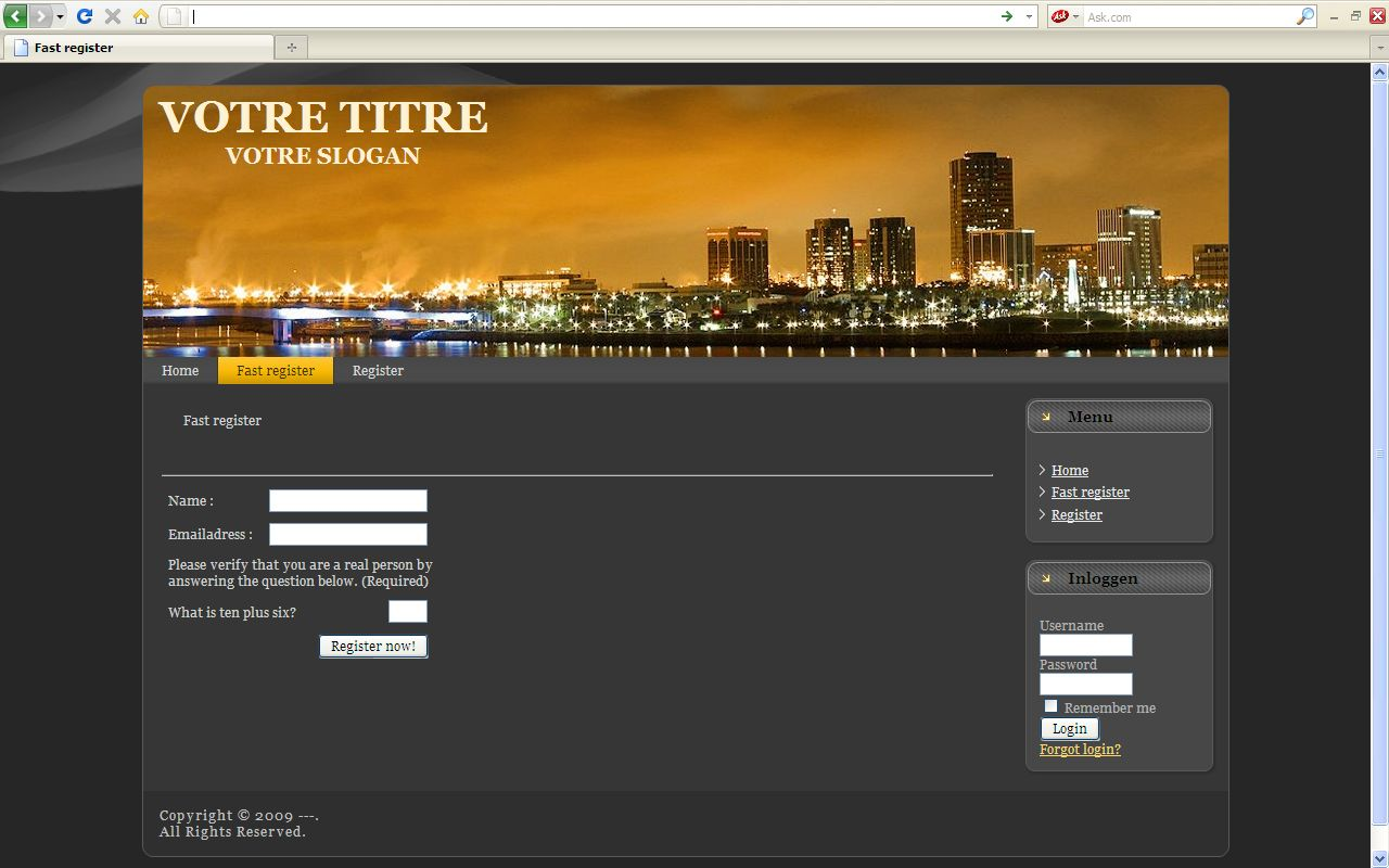 One Click Registration BG